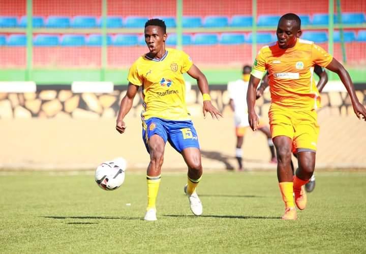 KCCA FC's Ashraf Mugume in action against AS Kigali